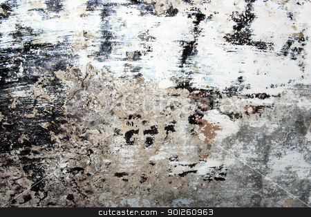Grunge urban wall stock photo, Grunge urban decay. Weathered, painted and scratched wall by Imaster