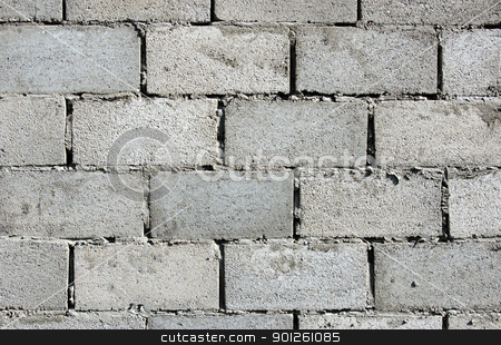 Urban gray brick wall stock photo, Fragment gray dirty weathered brick wall by Imaster