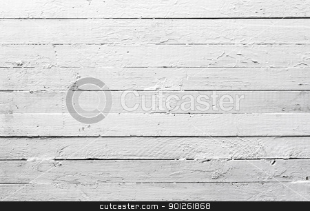 Weathered white wood stock photo, A background of weathered white painted wood.  by Imaster