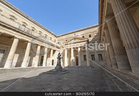 Lecce (Puglia, Italy): The Carducci square stock photo, Lecce (Puglia, Italy): The Carducci square (statue of Giosuè Carducci, circa 1910) by clodio