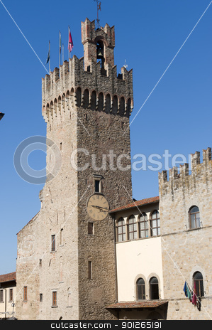 Medieval buildings in Arezzo (Tuscany, Italy) stock photo, Medieval buildings in Arezzo (Tuscany, Italy) by clodio