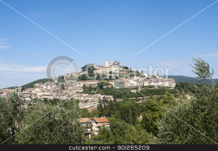Amelia (Terni, Umbria, Italy) - The old town and landscape stock photo, Amelia (Terni, Umbria, Italy) - The old town by clodio