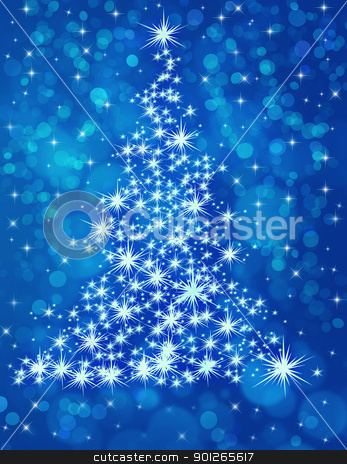 christmas tree stock photo, winter holidays concept by marrakeshh