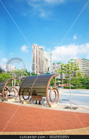 park in city stock photo, park in city by Keng po Leung