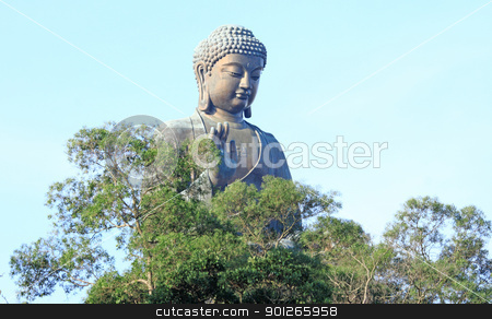 Tian Tan Buddha in Hong Kong  stock photo, Tian Tan Buddha in Hong Kong  by Keng po Leung
