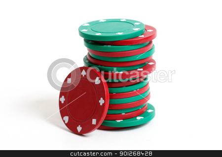 Poker chips stock photo, Poker chips by Lasse Kristensen@gmail.com
