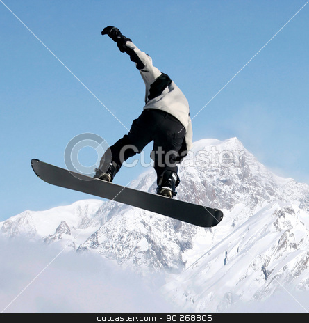Snowboarder stock photo, Snowboarder by Lasse Kristensen@gmail.com