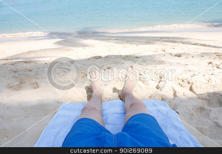 Legs on beach stock photo, Legs on beach by Lasse Kristensen@gmail.com