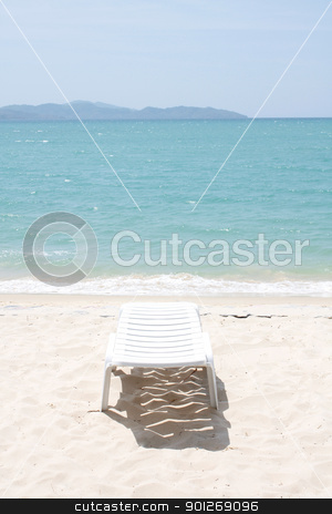 Chair on beach stock photo, Chair on beach by Lasse Kristensen@gmail.com