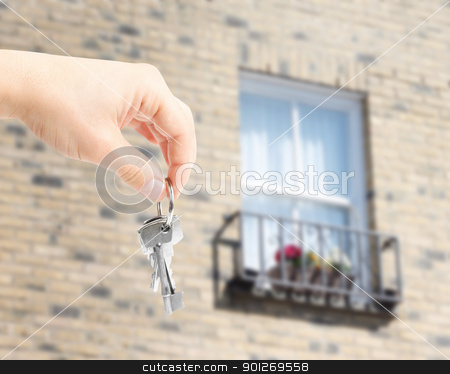 Handing over key stock photo, Handing over key by Lasse Kristensen@gmail.com