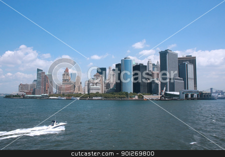Downtown Manhattan stock photo, NYC seen from the Staten Island ferry by Lasse Kristensen@gmail.com