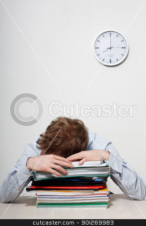 Business man sleeping stock photo, A tired business man sleeping by Lasse Kristensen@gmail.com