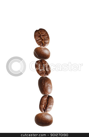 Coffee stock photo, Coffee beans in a stack by Lasse Kristensen@gmail.com