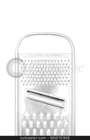 Grater stock photo, A silver grater isolated on white by Lasse Kristensen@gmail.com