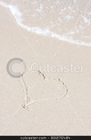 Heart stock photo, A heart symbol on the beach by Lasse Kristensen@gmail.com