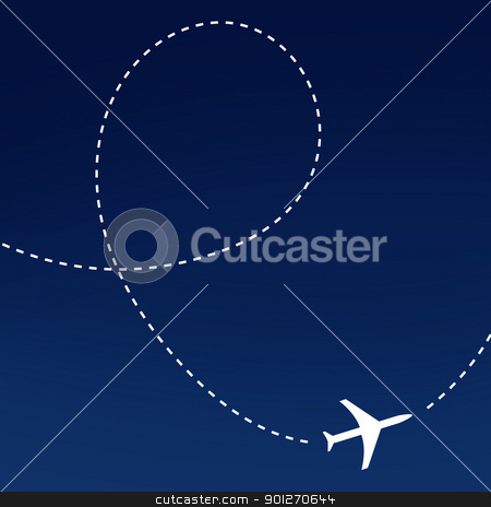 Airplane route stock photo, Airplane route by Lasse Kristensen@gmail.com