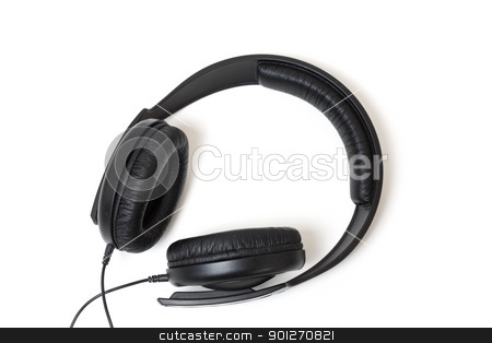 Headphones stock photo, Headphones isolated on white in a studio by Lasse Kristensen@gmail.com