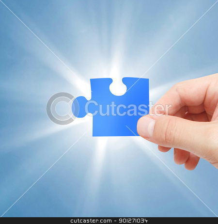 A piece of a puzzle  stock photo, A piece of a puzzle for the solution by Lasse Kristensen@gmail.com