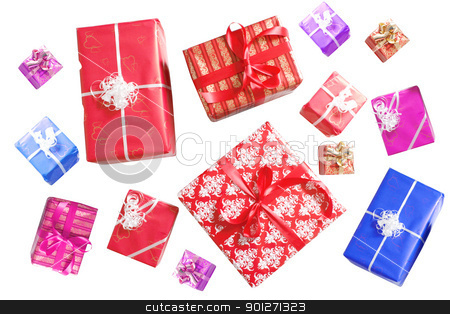 Christmas stock photo, A lot of christmas presents by Lasse Kristensen@gmail.com