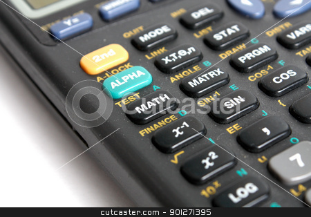 Calculator stock photo, A calculator isolated on white by Lasse Kristensen@gmail.com