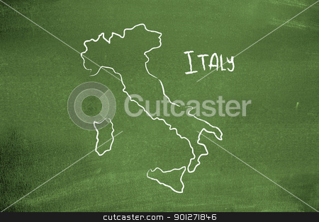 Italian map stock photo, Italian map by Lasse Kristensen@gmail.com