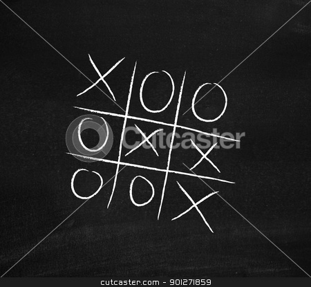 Tick tack toe stock photo, Tick tack toe by Lasse Kristensen@gmail.com