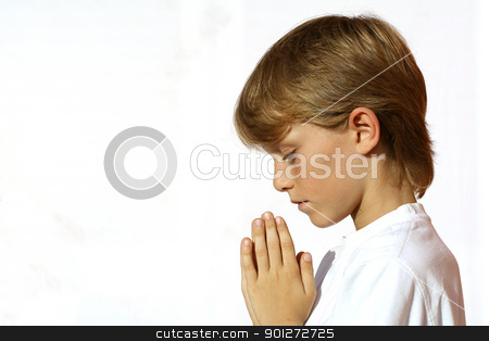 christian child praying  hands clasped in prayer stock photo, christian child praying  hands clasped in prayer by mandygodbehear