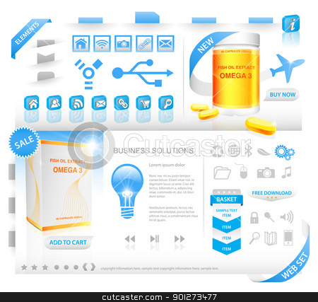 Web elements set stock vector clipart, Web elements set with package design by TheModernCanvas