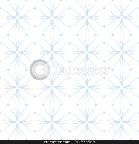 Seamless pattern stock vector clipart, Beautiful seamless background of floral and dots pattern by Ingvar Bjork