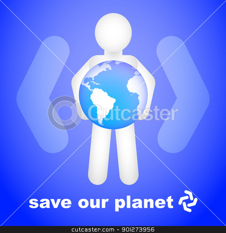 Save Our Planet stock vector clipart, Save our planet conceptual design by TheModernCanvas