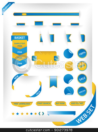 Modern web set stock vector clipart, Modern web interface elements set by TheModernCanvas