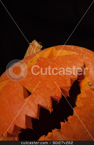 Halloween pumpkin stock photo, Spooky Halloween pumpkin by johnnychaos