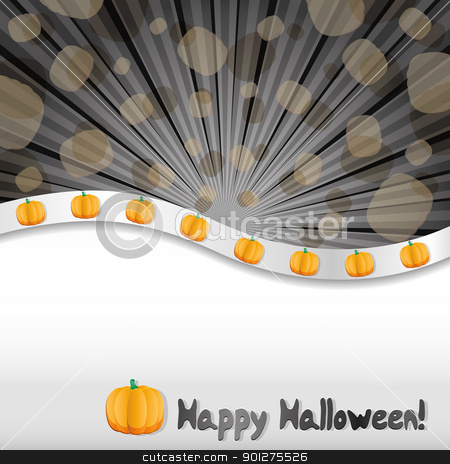 Haloween background  stock vector clipart, Haloween background with pumpkins and place for text, vector illustration by Mykhaylo Kushch