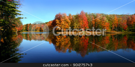 Allegheny state park stock photo, Panoramic view of Allegheny state park in Autumn time by Sreedhar Yedlapati