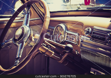 Inside in a old car stock photo,  by pifate