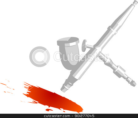 Image of airbrush stock vector clipart, an illustration of an airbrush painting. by Christos Georghiou