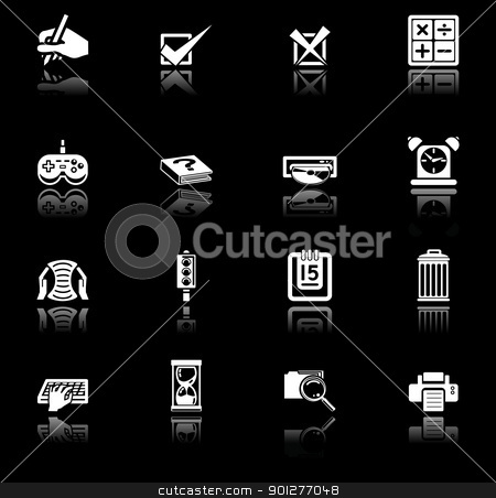 applications icon set stock vector clipart, Applications icon series set. an icon series set for computer applications by Christos Georghiou