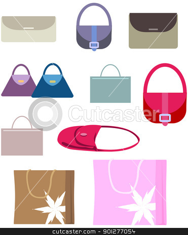 handbags stock vector clipart, A selection of hand and shopping bags. by Christos Georghiou