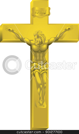 A crucifix stock vector clipart, A crucifix, all blends and gradients no meshes  by Christos Georghiou