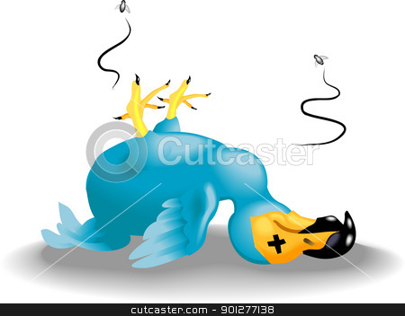 dodo illustration stock vector clipart, a dead dodo  by Christos Georghiou
