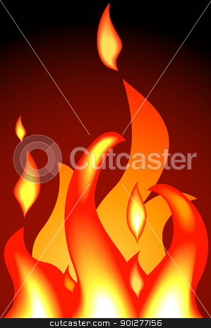 flames stock vector clipart, a fire or flames. Shading by blends, no meshes used.  by Christos Georghiou