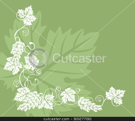 grapevine illustration background stock vector clipart, a grape vine design element  by Christos Georghiou