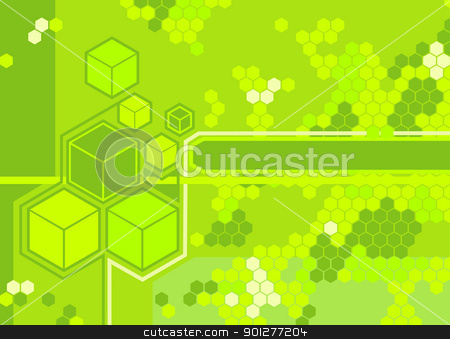 abstract hexagon background stock vector clipart, Background featuring hexagons.  by Christos Georghiou