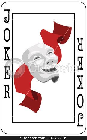 Joker card stock vector clipart, Joker playing card by Christos Georghiou