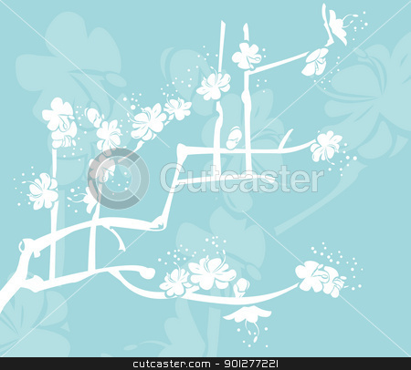 japanese design stock vector clipart, A Floral background  by Christos Georghiou