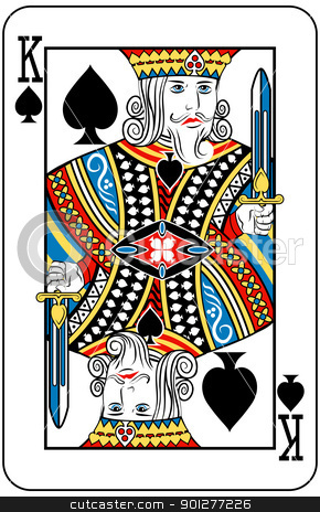 king of spades stock vector clipart, King of Spades playing card by Christos Georghiou