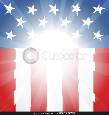 American flag background stock vector clipart, Abstract American flag background with copyspace and focus in centre ready take your text or image by Christos Georghiou