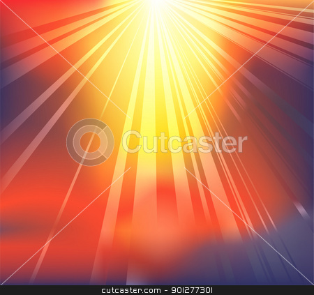 Heavenly light background stock vector clipart, Background featuring heavenly light breaking through the clouds by Christos Georghiou