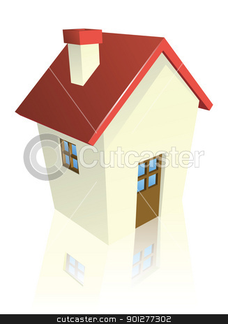 Stylised cottage or house stock vector clipart, Illustration of a stylised cottage or house by Christos Georghiou