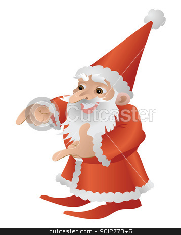 Cool Cute Father Christmas Character stock vector clipart, An illustration of a very cool cute Father Christmas different poses available by Christos Georghiou
